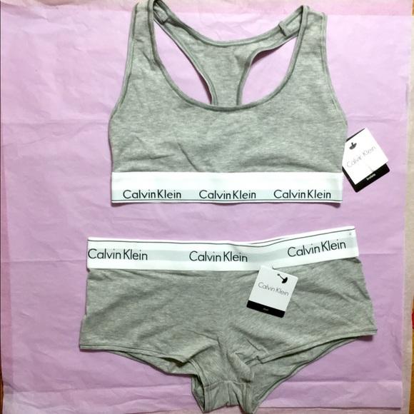 1246c35e06 Calvin Klein Bra and Panty Matching Underwear Set